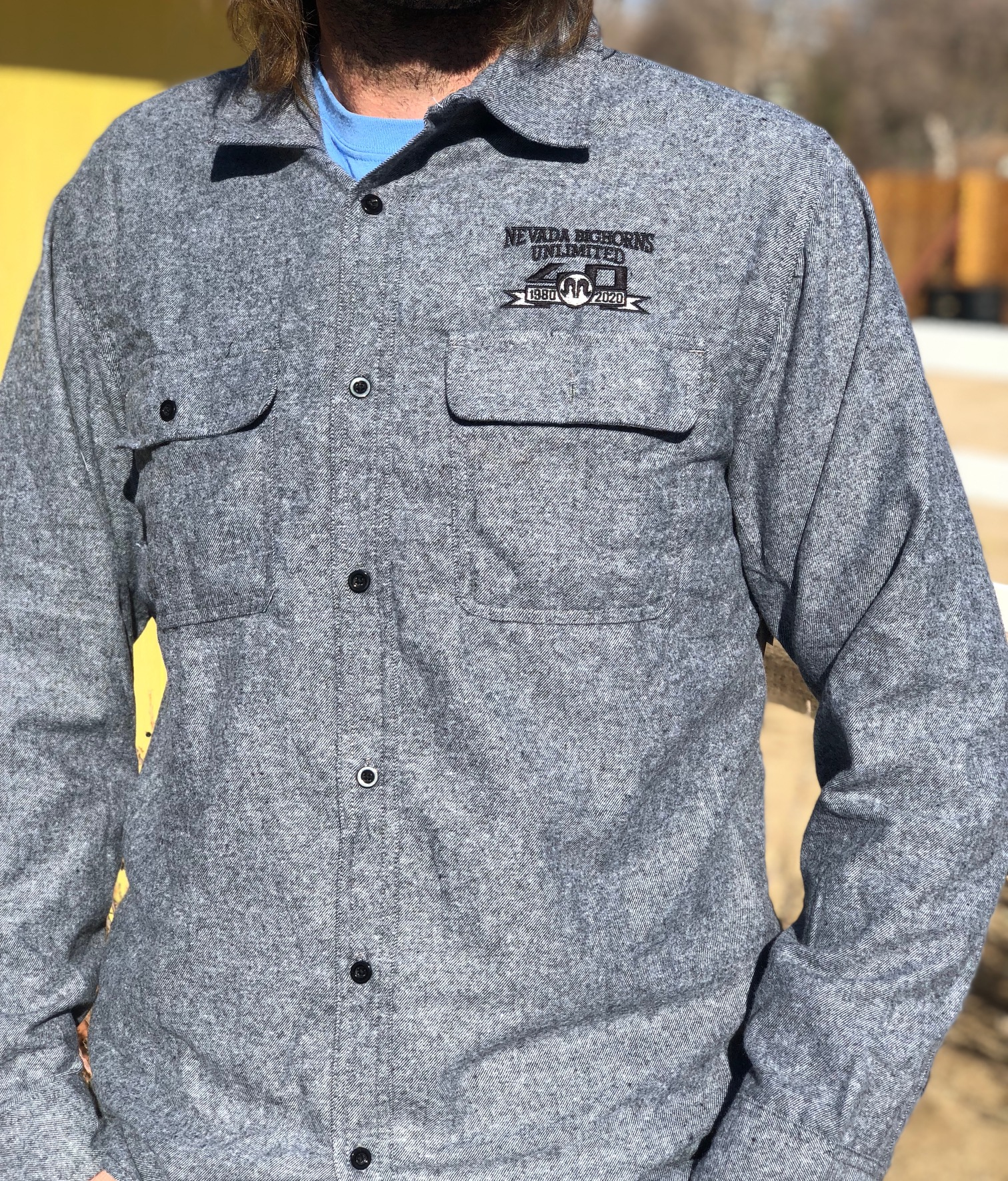 Burnside - Long Sleeve Solid Flannel Shirt